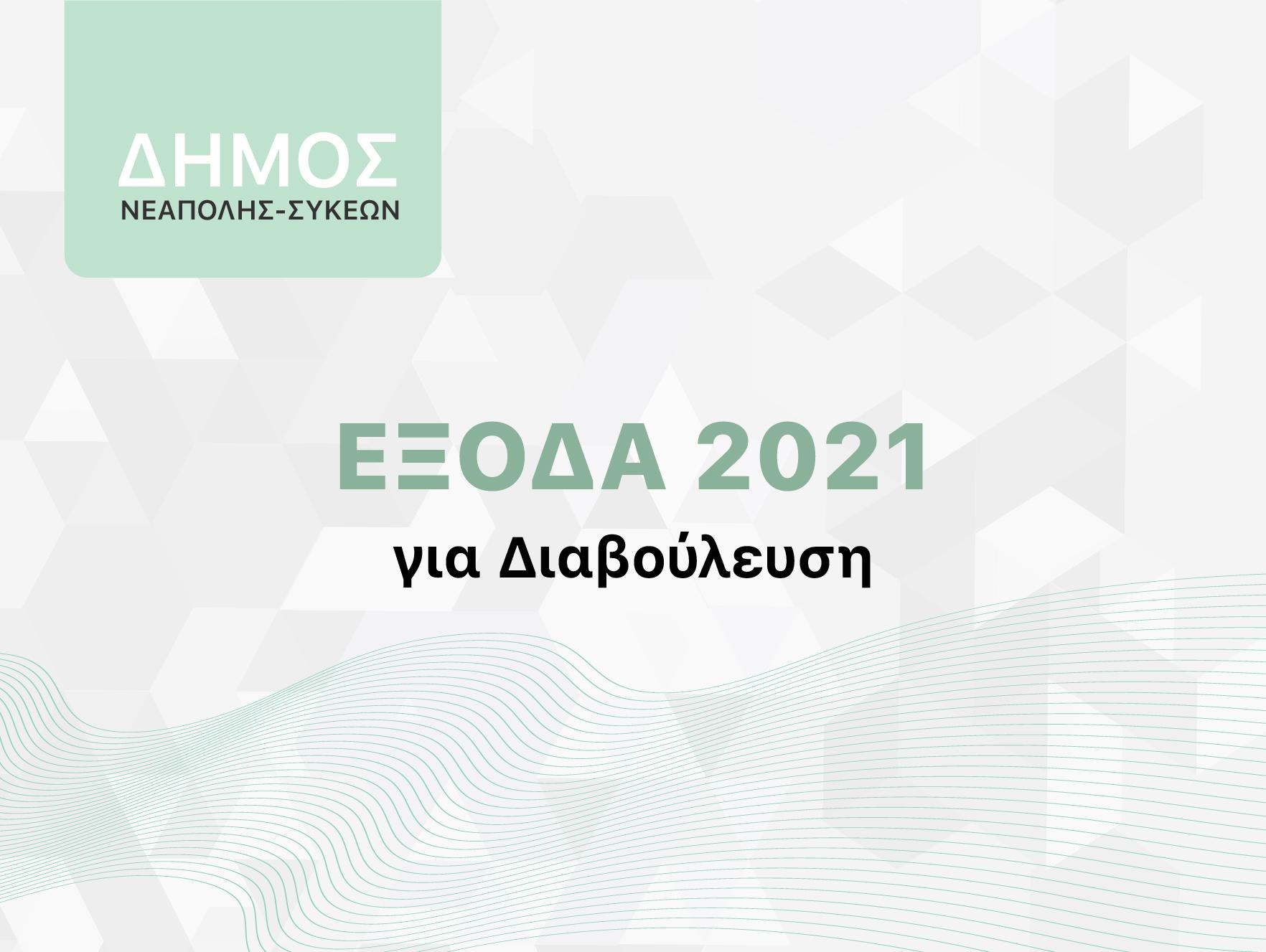 ΕΞΟΔΑ για το 2021 για ΔΙΑΒΟΥΛΕΥΣΗ